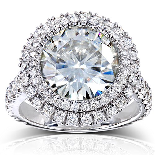 Free Insured Shipping with Every Order Center is Premium Quality Near-Colorless (F-G) Kobelli Moissanite 11 mm Satisfaction Guaranteed. Return or Exchange Policy Within 30 Days
