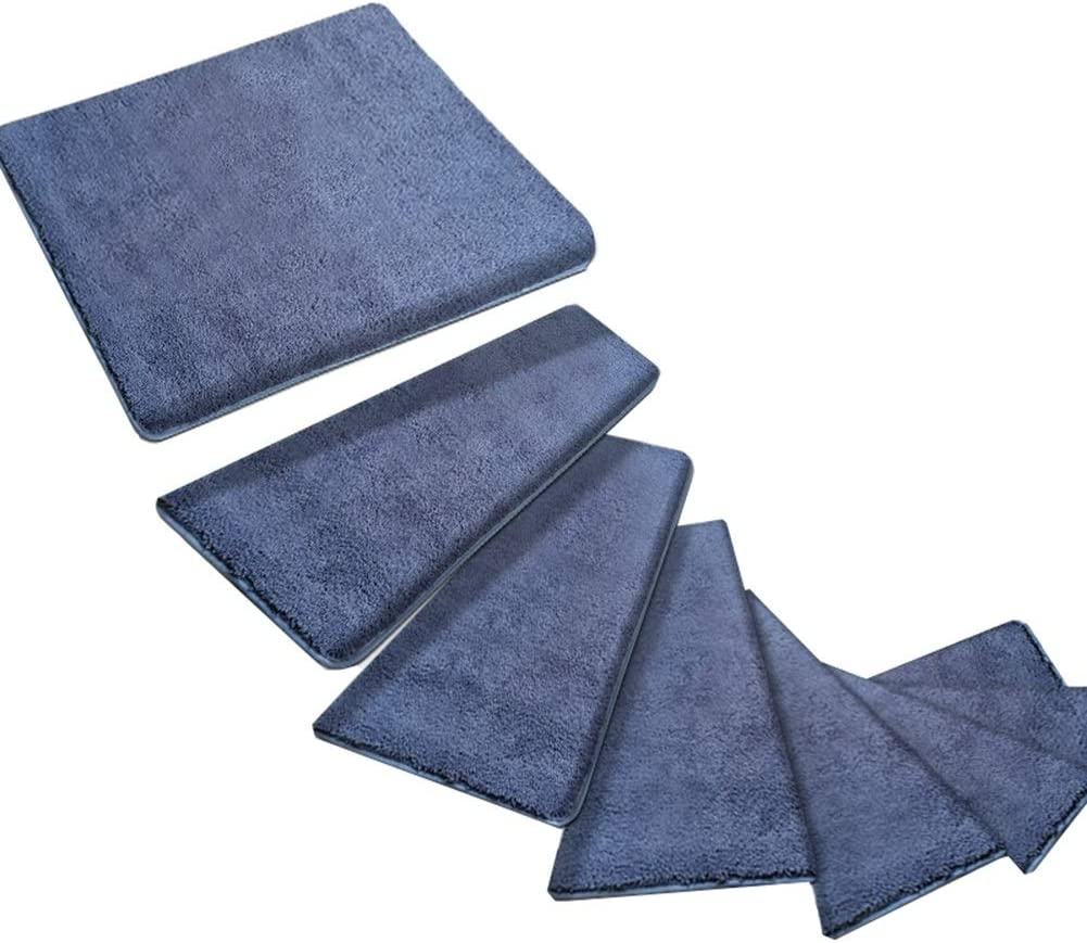 Carpets Stairs Treads For Steps Self Adhesive Stair Treads Mats | Spiral Staircase Carpet Treads | Replacement | Carpeting | Semi Circle | Interior | Double Winder Staircase