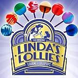 Linda's Lollies Gourmet Lollipops 48 Count Box - Nut, Gluten & Dairy Free - Fat Free