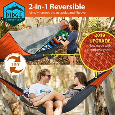 Ridge-Outdoor-Gear-Camping-Hammock-with-Mosquito-Net-Ripstop-Nylon-Ultralight-Hammock-Tent-Bundle-with-Bug-Netting-Straps-Carabiners