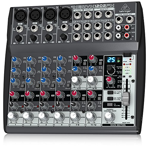 BEHRINGER, 12 XENYX 1202FX, 3-pin XLR, Black (