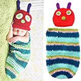 Baby Kids Rainbow Caterpillar Wearable Blanket Sleeping Bag Romper Newborn Photography Props Sleepwear Swaddle Wrap Sack