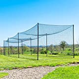 Ultimate Baseball Batting Cage [Net & Poles Package] - #42 Heavy Duty Net with Steel Uprights [Net World] 24hr Ship - (20', 35', 55', 70') (20' Batting Cage Package)