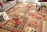 Mohawk Home Madison Louis And Clark Southwest Patchwork Woven Rug, 5'3x7'10, Brown
