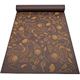Peace Yoga Extra Thick 3mm Pilates Exercise Yoga Mat with Printed Design - Brown Paisley