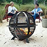Regal Flame Globe Ball Backyard Garden Home Light Wood Fire Pit. Perfect for RV, Camping, and Outdoor Fireplace. All you need is Firewood. Works as Patio Heater, Stove or Firebowl without Propane Gas