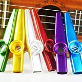 COCODE Set of 6 Colors Metal Kazoo Musical Instruments Good Companion for A Guitar Ukulele Great Gift for Kids Music Lovers