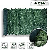PATIO Paradise 4' x 14' Faux Ivy Privacy Fence Screen Mesh Back-Artificial Leaf Vine Hedge Outdoor Decor-Garden Backyard Decoration Panels Fence Cover