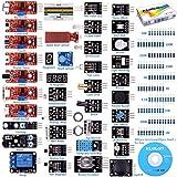 kuman K5-USFor Arduino Raspberry pi Sensor kit, 37 in 1 Robot Projects Starter Kits with Tutorials for Arduino Uno RPi 3 2 Model B B+ K5