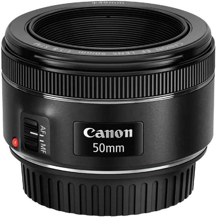 Canon EF 50mm f/1.8 STM Normal Lens for Canon EF Cameras