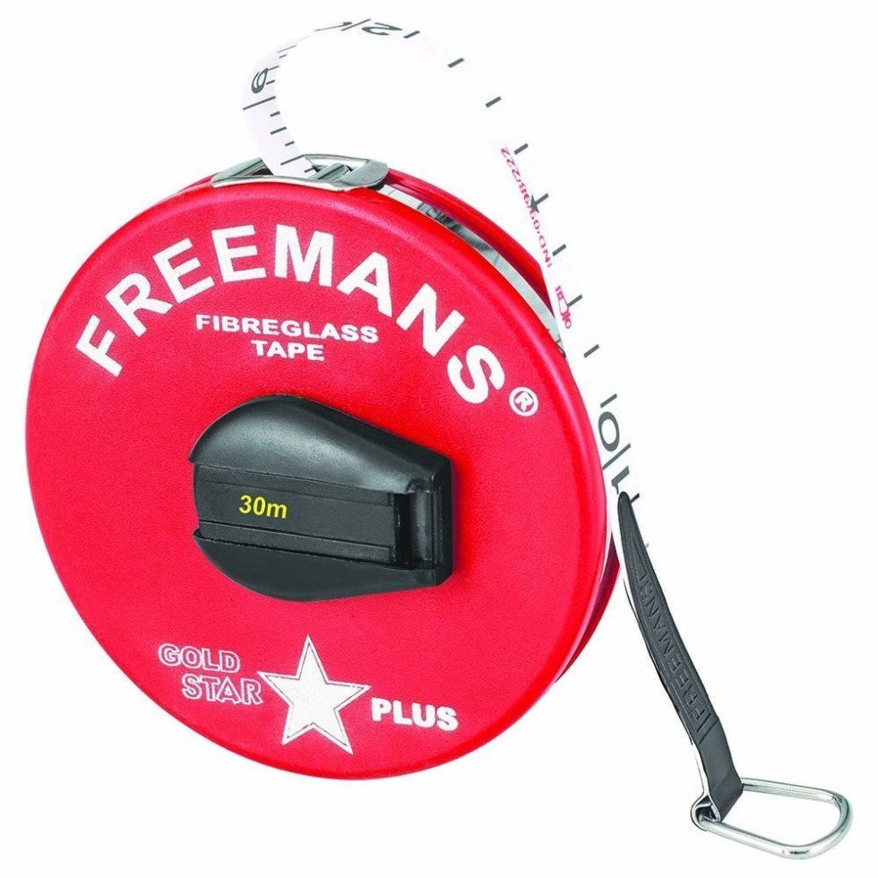 Freemans Gold Star Plus - Fibre Glass - Plastika - Measuring Tape 30 Meter. One of the Best quality Measuring Tape