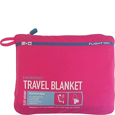 a390f4c9ce Com Flight 001 Women S Emergency Travel Blanket Pink One