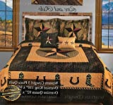 Werrox Western Star Horse Shoe Cowboy Boot Quilt Bedspread Comforter 5 Pcs Oversize Set | Queen Size | Quilt Style QLTR-291265587
