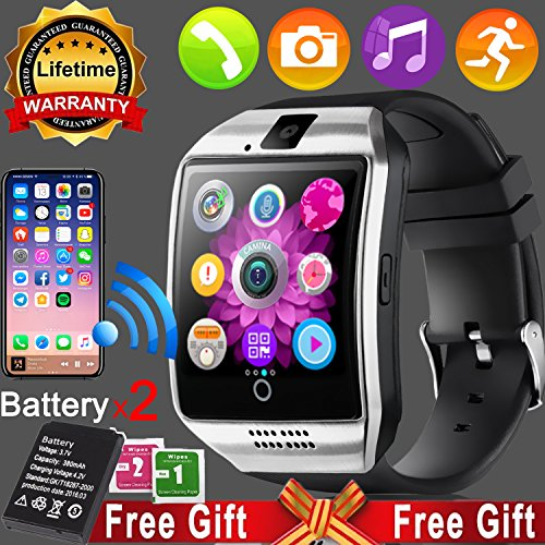 Smart Watch Touchscreen for Men Women Fitness Tracker Activity Run Outdoor Sport Watch Unlock Cellphone with SIM Camera Pedometer Activity Tracker Wrist Watch Health Calorie for Android iOS