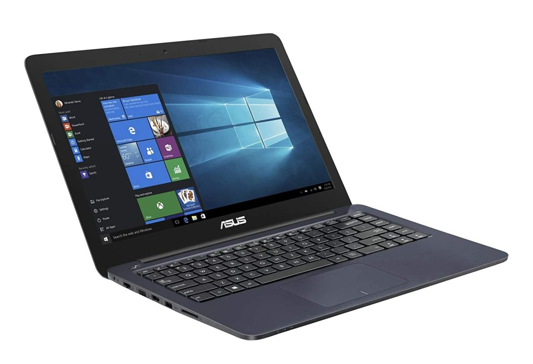"""Asus Vivobook E402WA-FA084TS PC portable 14"""" Bleu (AMD Quad Core E2, 4 Go de RAM, EMMC 64 Go, Windows 10 Home S) Clavier AZERTY Français"""