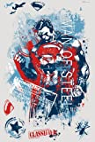 RoomMates RMK2262SLM Superman Man of Steel Distressed Graphic Peel and Stick Giant Wall Decals