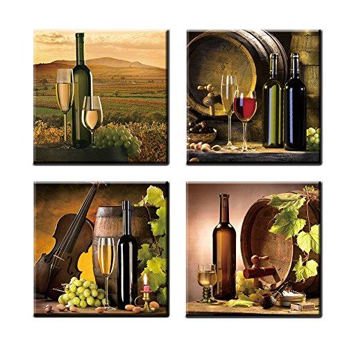 Rich unique and bold wine wall art decor home wall art for Wine and dine wall art