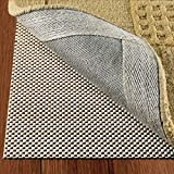 DoubleCheck Products Non Slip Rug Pad Size 5' X 7' Extra Strong Grip Thick Padding And