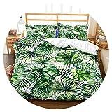 3D Bedding Set Tropical Plants Print Duvet Cover Set Lifelike Bedclothes with Pillowcase Bed Set Home Textiles,7,US King,China