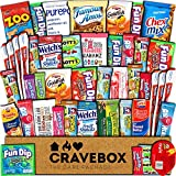 CraveBox Care Package (45 Count) Snacks Cookies Bars Chips Candy Ultimate Variety Gift Box Pack Assortment Basket Bundle Mixed Bulk Sampler Treats College Students Office Fall Semester Back to School