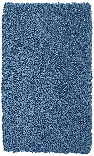 Pinzon 100% Cotton Looped Bath Rug with Non-Slip Backing - 30 x 50 inch, Marine