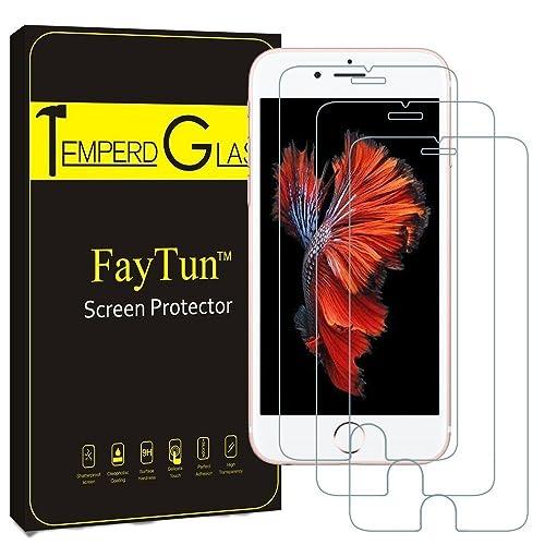 iPhone7 保護フィルム-FayTun(3枚セット)iPhone7 ガラスフィルム- 日本製素材 旭硝子 液晶保護フィルム 保護シート 硬度9H 飛散防止 指紋防止 超薄 3Dtouch対応 自己吸着 気泡ゼロ 耐衝撃 高精細 高透明