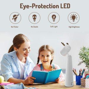 Ιταλικό Amazon | OUSFOT desk lamp for children LED eye protection bedside lamp 2 brightness levels USB rechargeable warm white deer