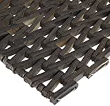 Durable Durite Recycled Tire-Link Outdoor Entrance Mat Herringbone Weave, 20' x 30', Black