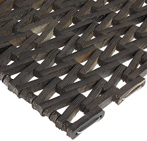 Durable Durite Recycled Tire-Link Outdoor Entrance Mat, Herringbone Weave, 24' x 36', Black