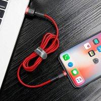 Baseus İphone 6,7,8,Xs,Xr 2 Metre 1.5 Hızlı Şarj Halat Usb Kablo 19
