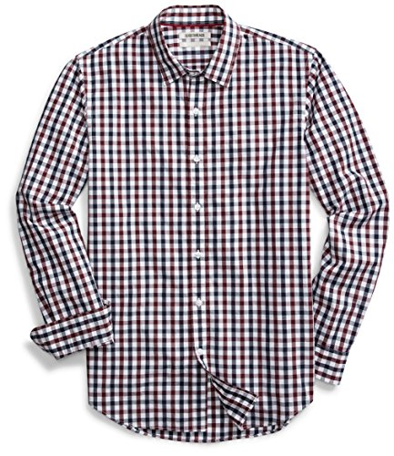 Amazon Brand - Goodthreads Men's Standard-Fit Long-Sleeve Gingham Plaid Poplin Shirt 1 Fashion Online Shop 🆓 Gifts for her Gifts for him womens full figure