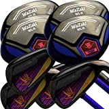 Japan WaZaki Black Finish WL-IIs 4-SW Combo Hybrid Irons USGA R A Rules Golf Club Set,with Headcover,Regular Flex,Pro Graphite Shaft,Right Handed,Pack of 16,Public Edition