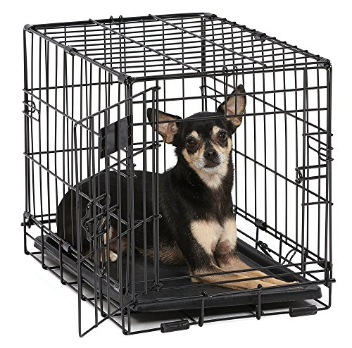 iCrate Midwest Wire Dog Crate with Pan and Divider 18''