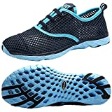 ALEADER Women's Stylish Quick Drying Water Shoes Black (10 M US, Blue)