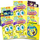 Nickelodeon Spongebob Squarepants Party Favors Pack ~ Bundle of 6 Spongebob Squarepants Play Packs with Stickers, Coloring Books, Crayons with Bonus Spongebob Stickers (Spongebob Party Supplies)