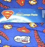 Superman Men's Cartoon Blue Lounge Pants Pyjama Bottoms Size Small