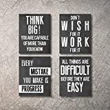 Inspirational Wall Art Poster Prints Quote Positive Affirmation Motivational Wall Art Quotes Pictures fun Office Wall Decor Artwork Art for living room bedroom walls office art (Black, 8x10)