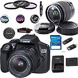 Canon EOS 1300D / T6 EF-S 18-55mm 18.7MP CMOS 5184 x 3456 Pixels (Black) + Deal-Expo Basic Accessories Bundle