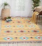 Nourison  Baja Tribal Area Rug 5 7 Feet, 5'x7' , Yellow