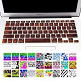 Allytech Silicone Keyboard Cover with Pattern Compatible MacBook Pro 13/15 /17 Inch (with/Without Retina Display), iMac and MacBook Air 13 Inch, Solid Wood Texture