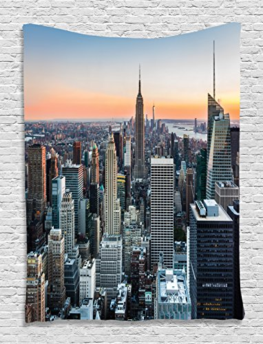 Lighted wall art decor popular and trendy illuminated wall art wall art decor new york city themed decor art picture rose quartz manhattan skyline sunset lighted aloadofball Choice Image