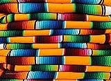 El Paso Designs Mexican Serape Blankets Bright & Colorful Saltillo Serape Blanket (X-Large, Yellow)
