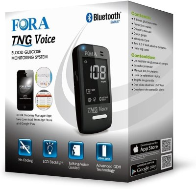 FORA Test N'GO Voice Bluetooth Blood Glucose Meter