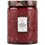 Voluspa Goji Tarocco Orange Large Embossed Glass Jar Candle, 16 ounces