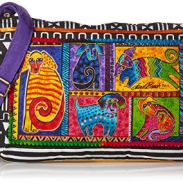 Laurel Burch Dog Tails Patchwork Medium Cross Body Bag 5213