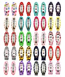 Ruyaa 2' Snap Clips No Slip Wrapped Hair Barrettes for Toddlers Girls Kids Women Hair Accessories (40pcs Assorted)