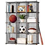 Product review for KOUSI Wire Cube Storage Metal Shelving Unit Bookcase DIY Closet Organization System, 12 Grids Black