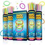 Glow Sticks Jewelry Bulk Party Favors 400pk - 8 Inch Glow in The Dark Party Supplies, Neon Party Glow Necklaces and Bracelets for Kids or Adults