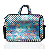 """10.5-Inch Laptop Ipad Shoulder Carrying Bag Case Sleeve for 9.6"""" 9.7' 10' 10.1' 10.5' Ipad/Netbook/Tablet/Reader, Mermaid Scale (Colorful)"""