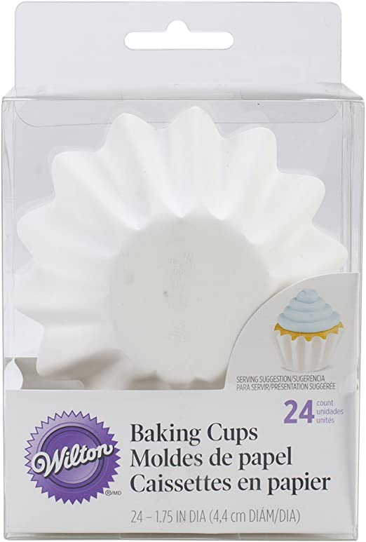 Wilton Wave Baking Cups - 24 count, white
